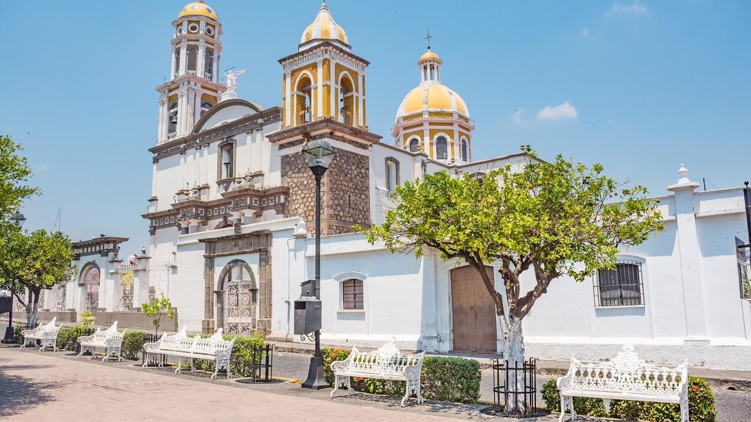 La ville blanche de Comala au Mexique